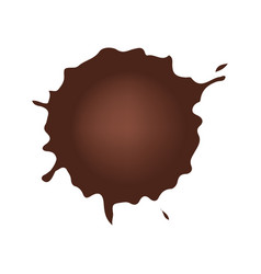 Set of chocolate drop circle or blots on white vector