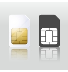 Sim card mobile telecommunication vector