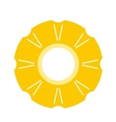 Slice of pineapple flat icon vector