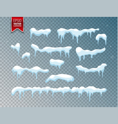 Snow ice cap snowfall with snowflakes winter vector