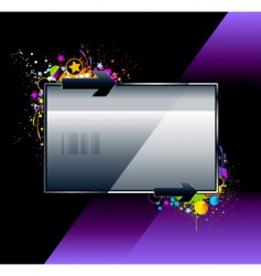 splash glossy banner vector image vector image