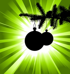 tree with bulbs vector image vector image