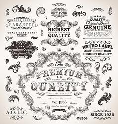 Vintage labels set vector