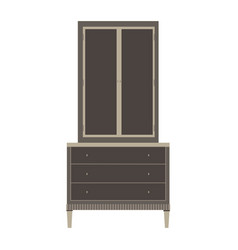 Wardrobe closet cupboard furniture isolated vector