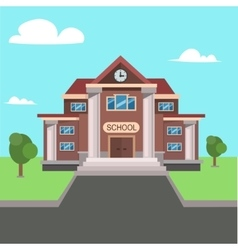 School front view vector