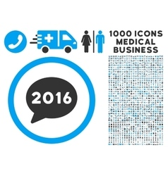 2016 message icon with 1000 medical business vector