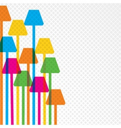 Colorful lamp background vector