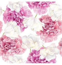 peony tulip pattern vector image