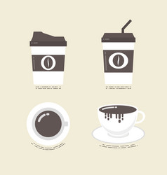 477flat coffee icon vector