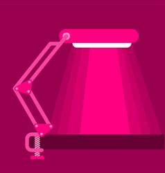 big table lamp icon flat style vector image