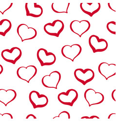 38 hand-drawn seamless pattern from hearts on a vector