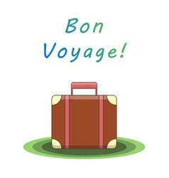 bon voyage suitcase vector image