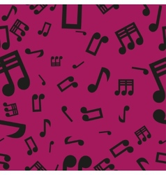 Musical notes seamless pattern pink vector