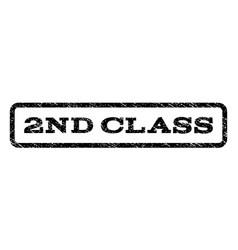 2nd class watermark stamp vector
