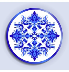 plate with lace pattern vector image