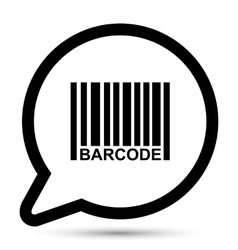 Bubble with barcode icon vector