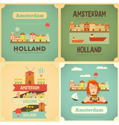 Amsterdam set vector