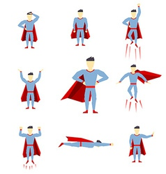 Superhero comic book style page cartoon pose vector
