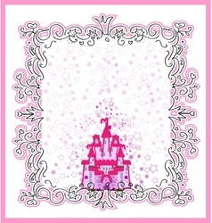Invitation card with magic fairy tale princess vector