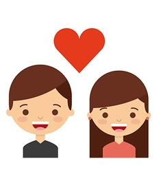 Love couple design vector