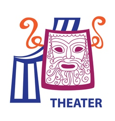 Symbol of theater sign vector