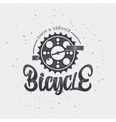 Bicycle badge insignia for any use such as signage vector image
