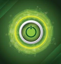 abstract power button vector image