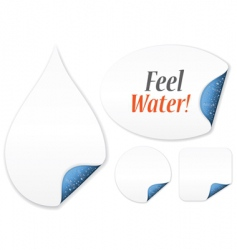 Feel water vector