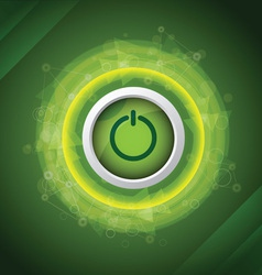 abstract power button vector image vector image