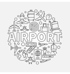 Airport round vector