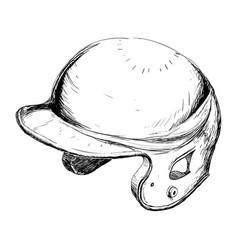 Baseball hat equipment vector