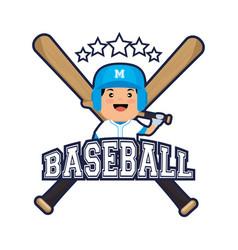 baseball player sport icon vector image vector image