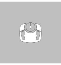 Bathroom scale computer symbol vector image vector image