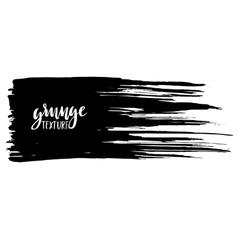 Black ink brush stroke isolated on white vector image
