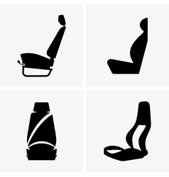 Car driver seat vector