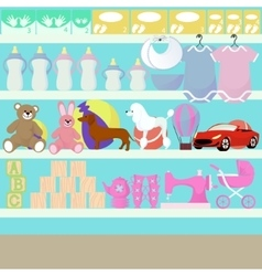 Children goods shop vector