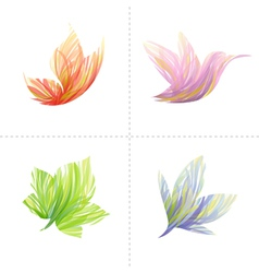 Collection of colorful design vector image vector image