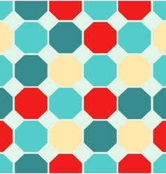 Colored polygon seamless pattern vector