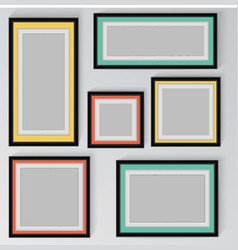 colorful frame on wall vector image
