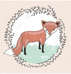 Cute little fox for children vector