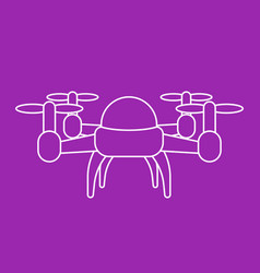 drone linear vector image vector image