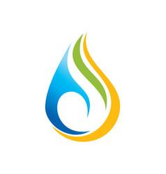 Droplet colored bio eco logo vector