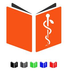 Drug handbook flat icon vector