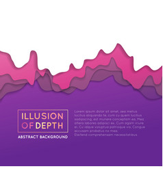 ilusion of depth wavy pattern background vector image vector image