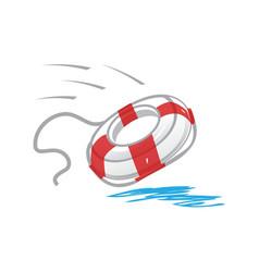 Lifebelt icon vector
