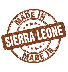 Made in sierra leone brown grunge round stamp vector