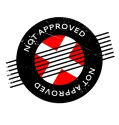 Not approved rubber stamp vector