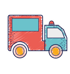 Package delivery services in truck vector