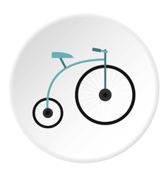 Retro bike icon flat style vector