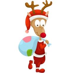 santa deer vector image vector image